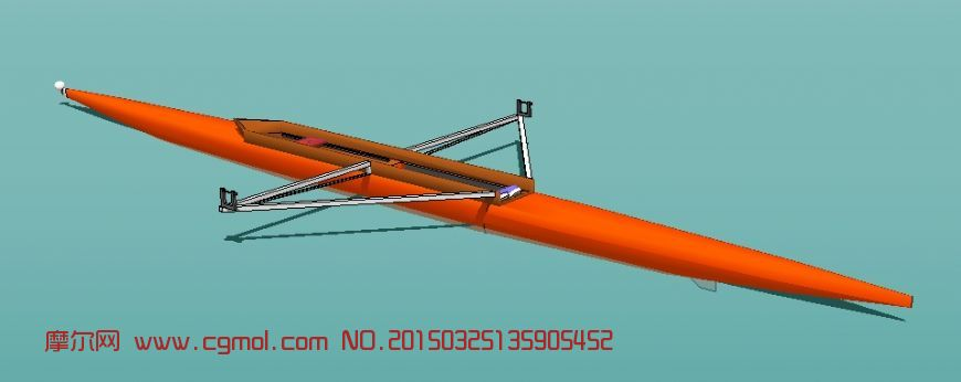 赛艇_船只_运输模型_3d模型,3d素材免费下载_摩尔网