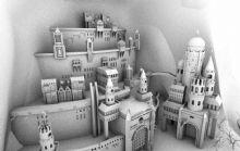 建在山上的城堡3D模型