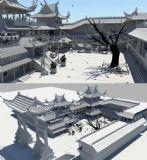 大型古代驿站,客栈场景3D模型