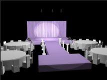 舞台效果3D模型