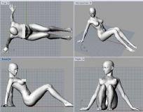 坐着的女孩3D模型