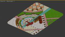 景观广场3D模型