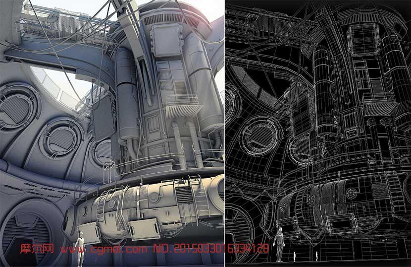 皮皮谷卡通城堡场景maya模型 科幻场景 场景模型图片