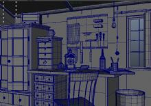 衣柜书桌的场景Maya模型