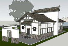 川西风格古建3D模型