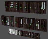 20几张门的3D模型