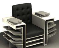 沙发书架组合3D模型