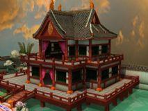 荷花池,园林,水榭楼阁,古代场景建筑3D模型
