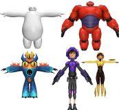 超能陆战队全套小伙伴的3D模型,有温暖和暴力的大白哦!