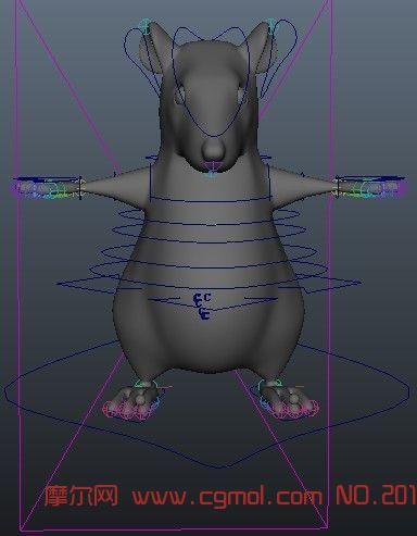 老鼠3d模型带绑定_哺乳动物