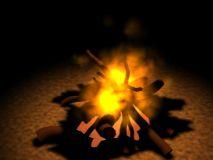 野外篝火3D模型