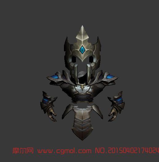 q版战士盔甲_科幻角色_游戏角色_3d模型,3d素材免费