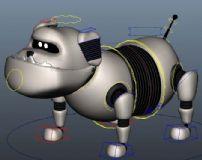 带绑定的机器狗maya模型