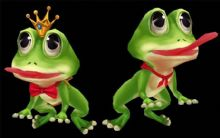 青蛙王子和毒青蛙3D模型