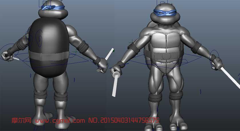 超����的忍者神��LEO3D模型
