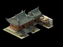古代游戏仓库3D模型