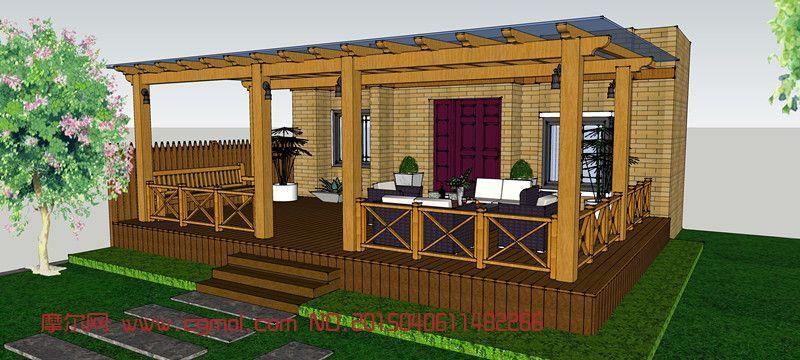 别墅前面平面后面造型设计图展示