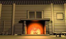 木屋火炉内景3D模型
