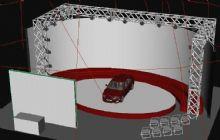 汽车展会,展台3D模型