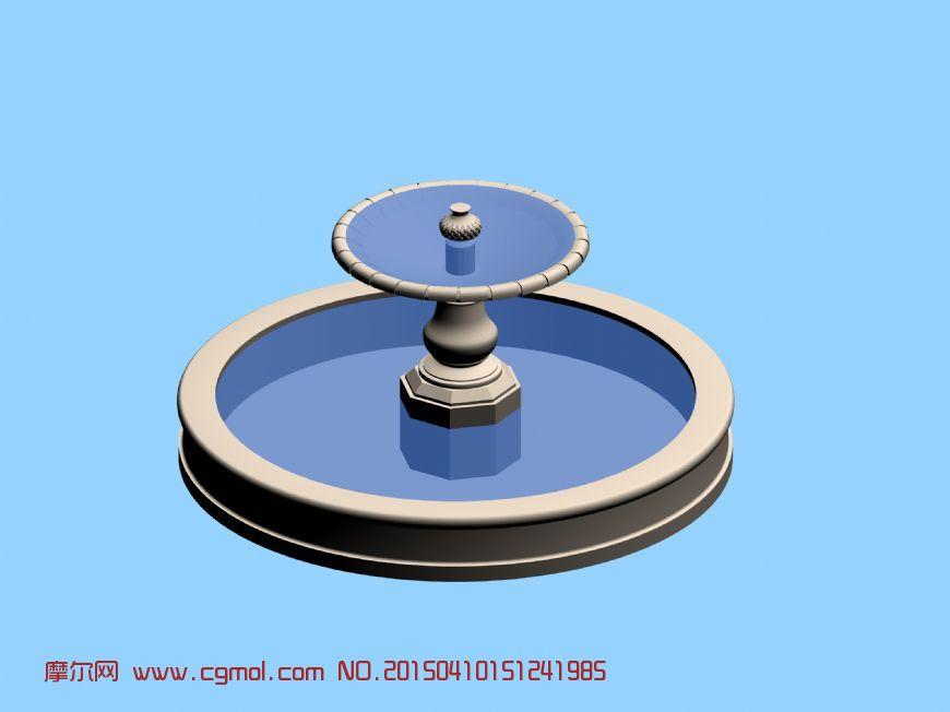 欧式水景,喷泉max模型
