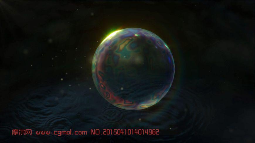 动态气泡,基于真实物理现象模拟