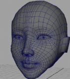 美女头像maya模型