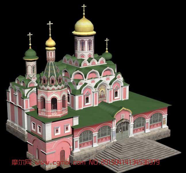 场景模型 现代场景  关键词:教堂欧式