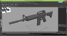 M4A1突击步枪maya模型