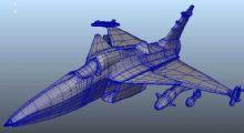 飞鹰战机maya模型