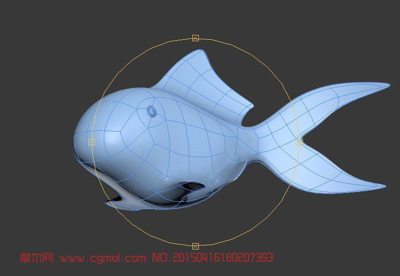 金鱼建模_鱼类动物_动物模型_3d模型,3d素材免费下载