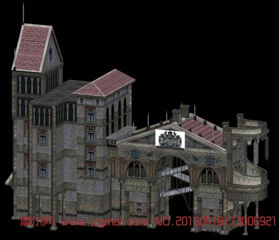 建筑模型 国外建筑  关键词:欧式建筑 作品描述:欧式建筑 作者其他