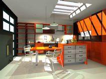 意式厨房3D模型