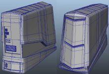 戴尔―外星人主机箱maya模型
