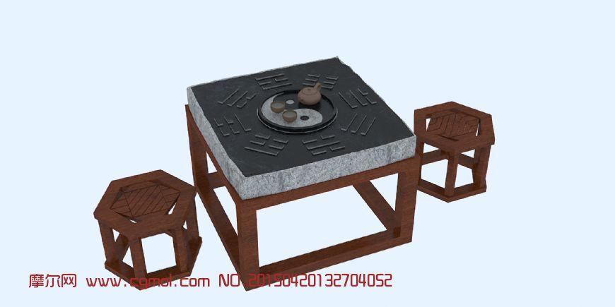 关键词:中式家具八卦茶桌茶具