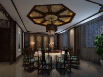 中式餐厅包厢3D模型