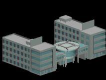 科技楼,办公楼3D模型