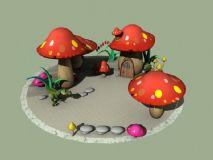 蘑菇园,蘑菇园3D模型