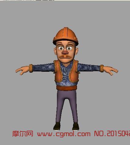 光头强3d模型,有贴图_卡通角色
