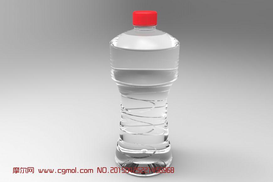 矿泉水瓶3d模型图片