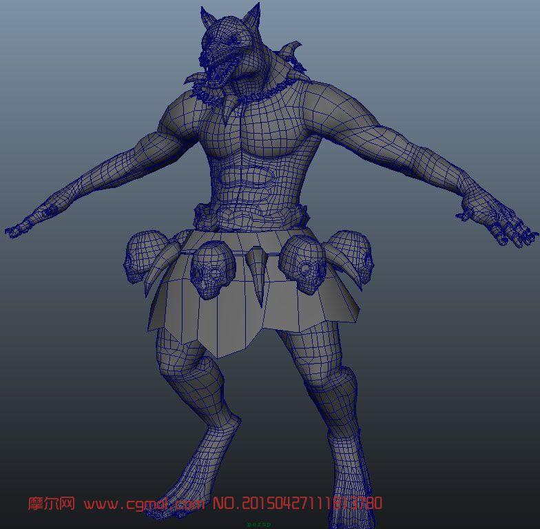狼人maya模型