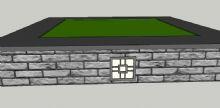中式树池skp模型
