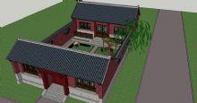 中式小院,古代院子3D模型
