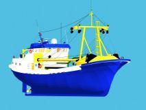 自己做的渔船3D模型