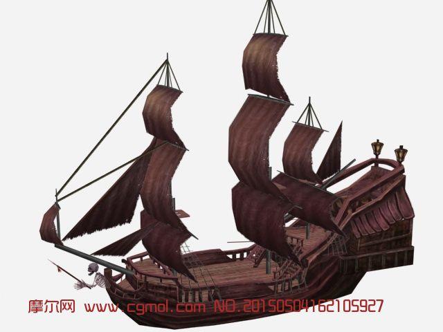 海盗船3d模型_船只_运输模型
