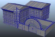 房子场景maya模型