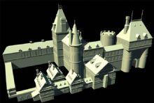西方城堡maya模型