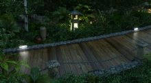 木栈道,傍晚的景观道路景色3D模型
