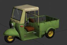 三轮摩的,三轮车3D模型