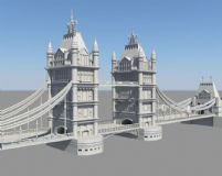 双塔桥maya模型