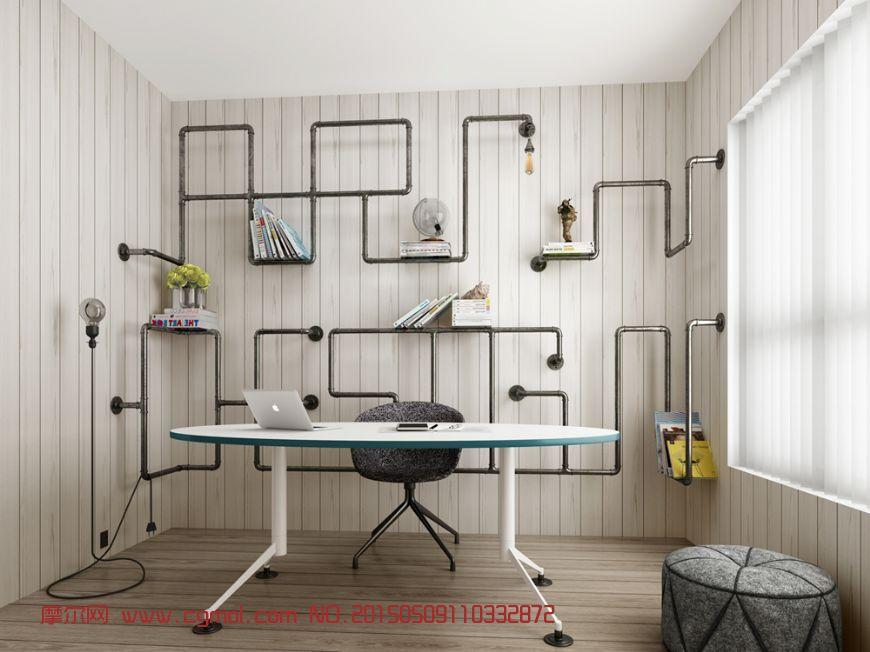 水管书架办公室3D模型